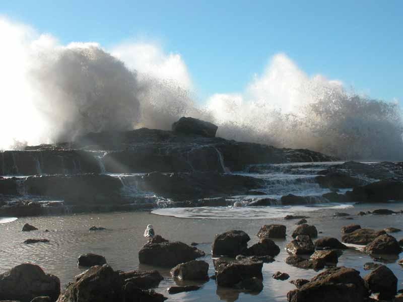 An angry sea at Palos Verdes