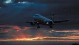 A320 sunset aviation stock photo #SS9904