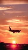 A320 sunset aviation stock photo #SS9929p
