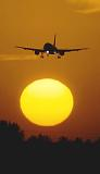 A320 sunset aviation stock photo #SS9937p
