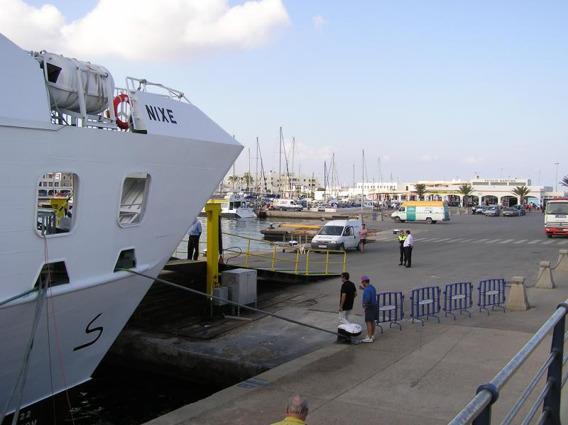 Ferry Nixe at La Savina Ramp