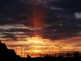Sun Pillar at Sunset, Barstow