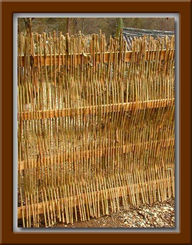 Woven Bamboo Gate