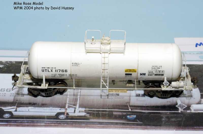 Mike Roses Rail Yard Models Sulfuric Acid Tank Car