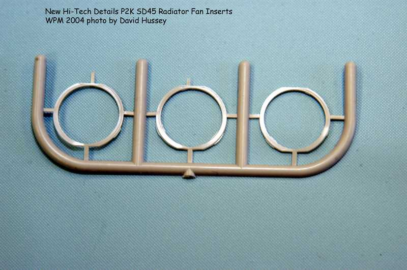 Rings to fix the Radiator Fan recess on the P2K SD45 fron Hi-Tech Details
