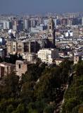 Malaga from Castillo de Gibralfaro.