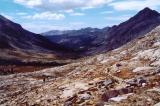 Looking South at the Kaweah Gap, elevation 10,700
