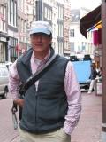 Walking in Amsterdam, Peter and his hat.
