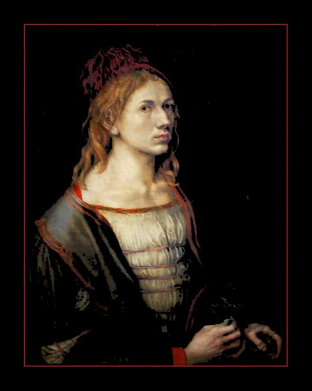 Portrait de lartiste (1493) par Albrecht DÜRER