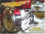 KJS SINGLE CARBURETOR CONVERSION, WITH A SCREAMIN' EAGLE AIRCLEANER KIT (CLICK ON NEXT AT RIGHT FOR MORE PHOTOS)