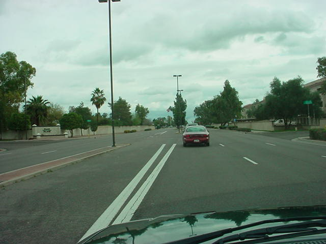 2. traveling east on Baseline Rd.
