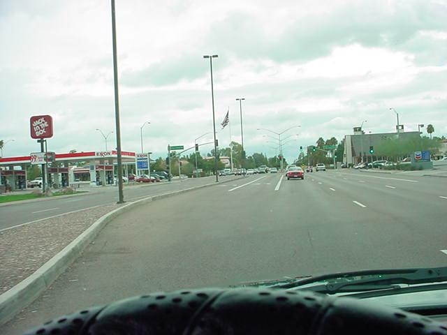 3. traveling east on Baseline Rd.