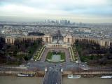 Trocadero Gardens and the Palais de Chaillot from the second level