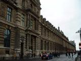 The outer wall of the Louvre
