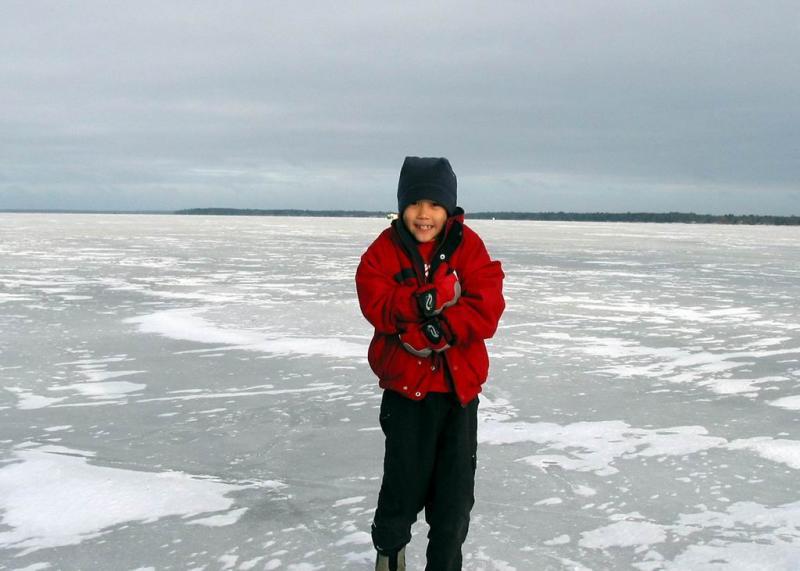Michigan - on frozen Houghton Lake
