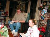 Scott and Mallory opening presents