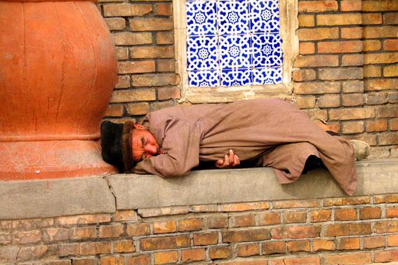 Asleep in Yarkand