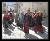 Visitors on their way up - Potala