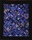 Amish Roman Stripes crib quilt-Ohio c.1930