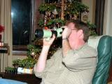 Scott checks out his spotting scope