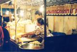 street vendors at night