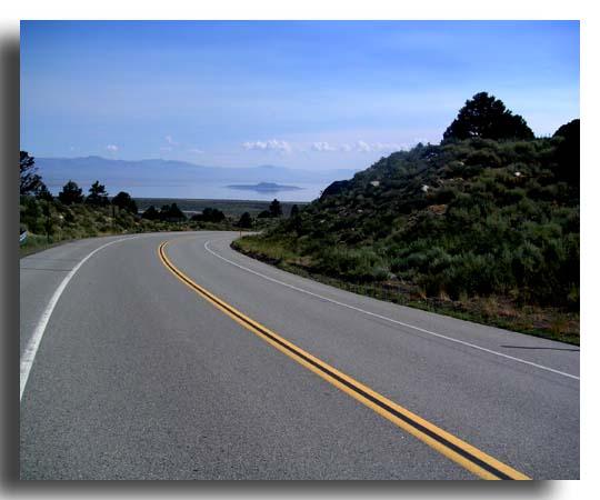Looking Back toward Mono Lake (with Negit Island)