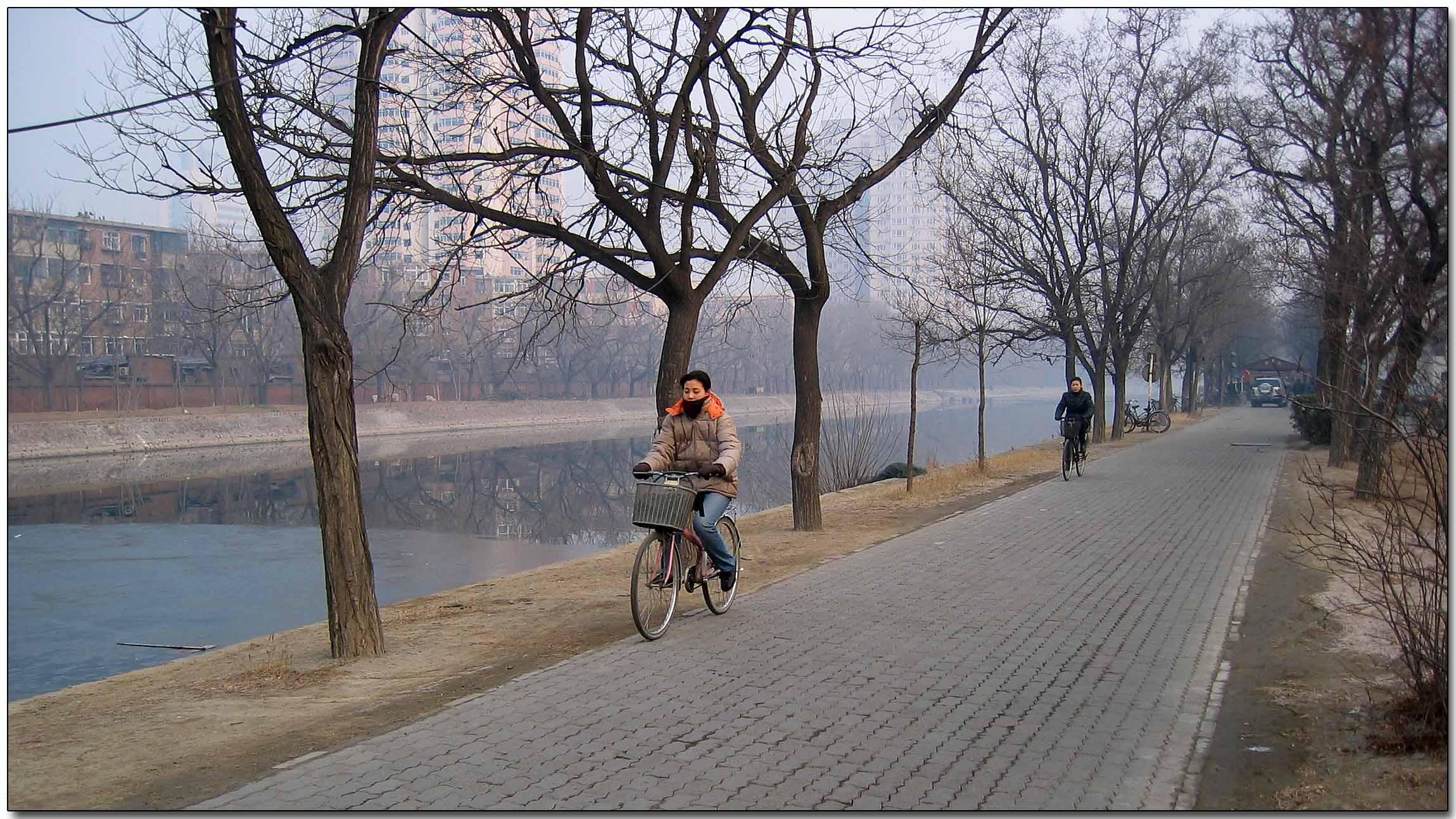 Winter river, Tianjin