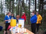 Aid Station #3 / 4 -- Kyla A (far left)