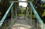 Brücke über die Rems am Biergarten Schwaneninsel