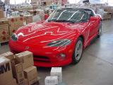 red car at paint shop
