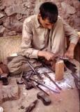 Sharpening his Tools