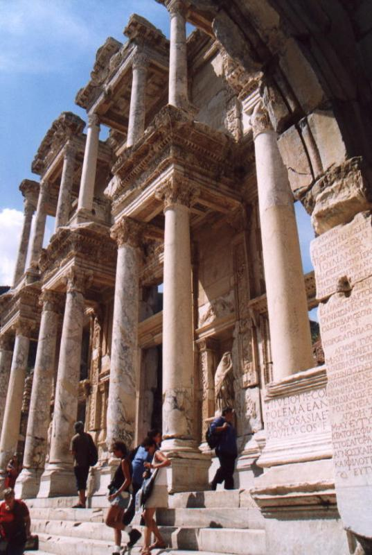 Celsus Library from side