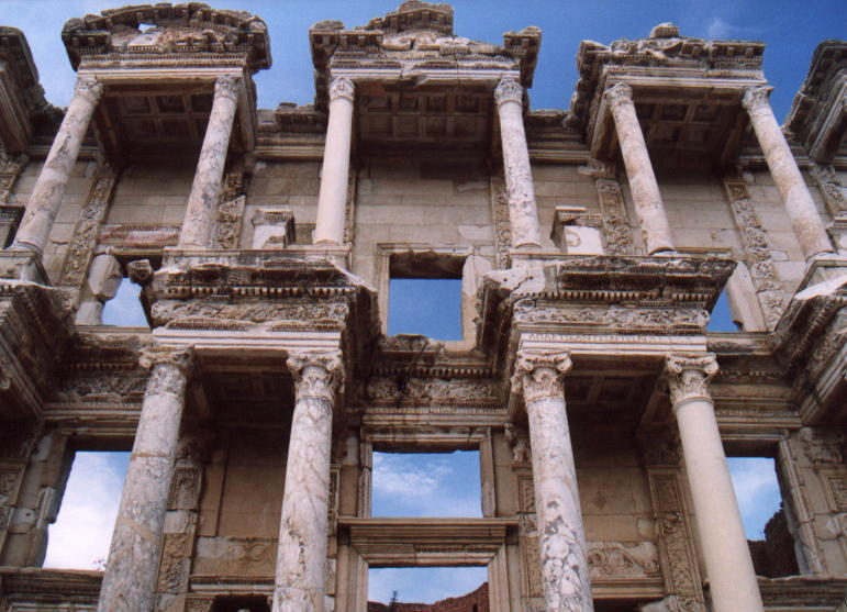 Celsus Library from below