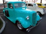 1936 Ford pickup w/ an awesome ghost flames paint job
