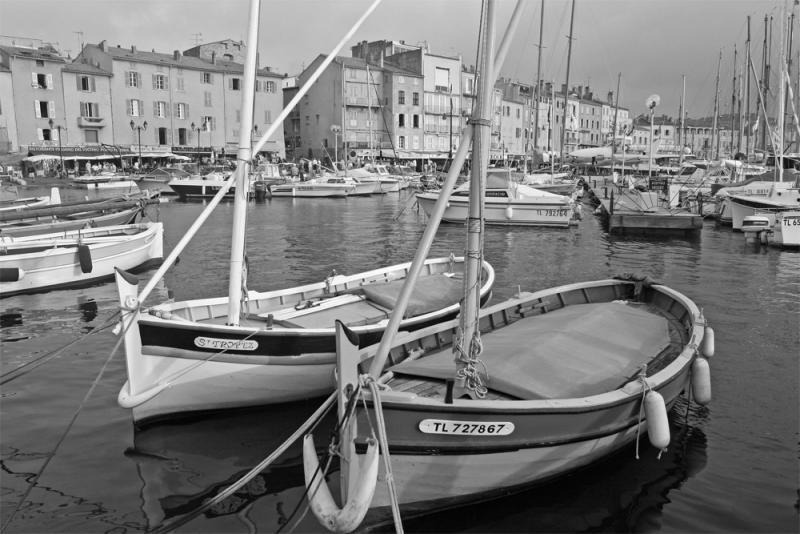 Port de Saint-Tropez en N&B