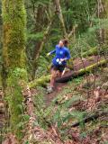 Carol, hammering the Nook Trail