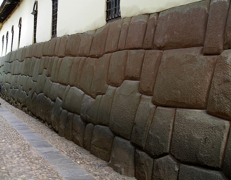 Incan Stones are Foundations for Spanish Buildings