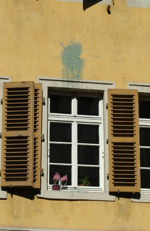Window of a house in the Hauptstrasse