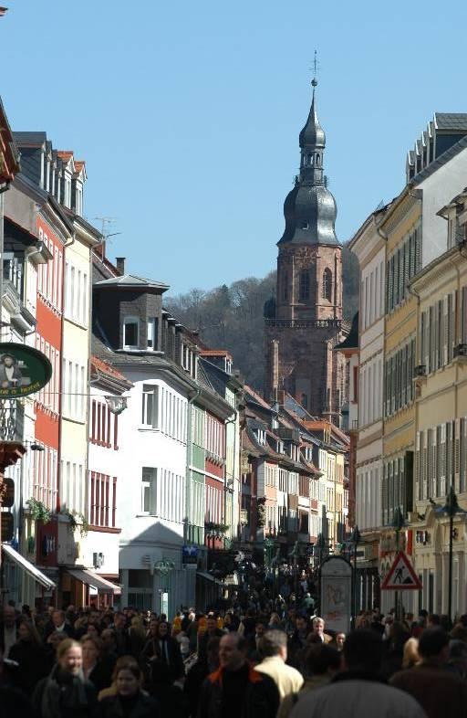 Hauptstrasse, Main Street in Heidelberg