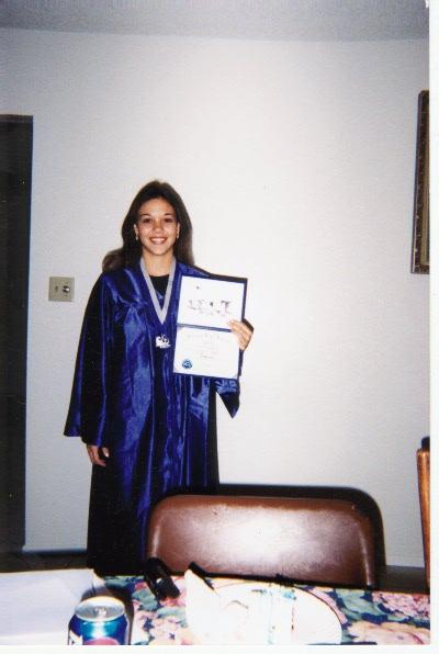 Tarinas graduation picture Dobson high school class of 1998.
