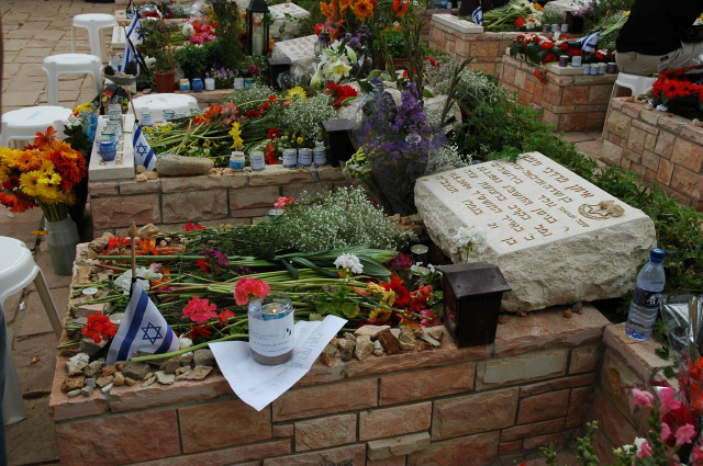 The grave of Eitan Newman, I knew him since he was a baby