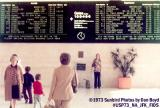 1973 - National Airlines Sundrome terminal Flight Information Display System at JFK aviation airline stock photo