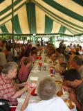 big tent lunch (looks like the Dawson clan)