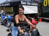 Lovely Connie Cathey, Mkt. Manager on a Buell