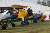 Alignement d'avions anciens