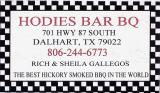 HodiesBBQ in Dalhart, TX. Great, Cheap BBQ with a view of the tracks