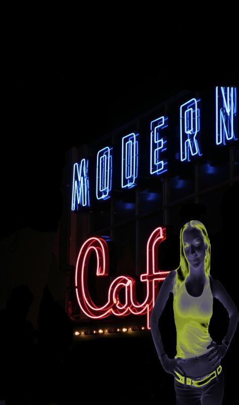 Modern Cafe Girl