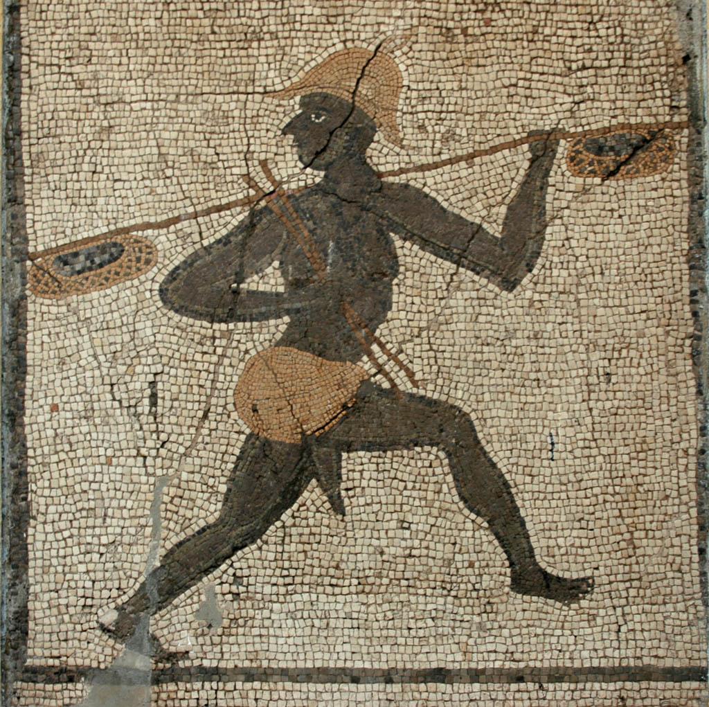 Antakya mosaic Negro Fisherman