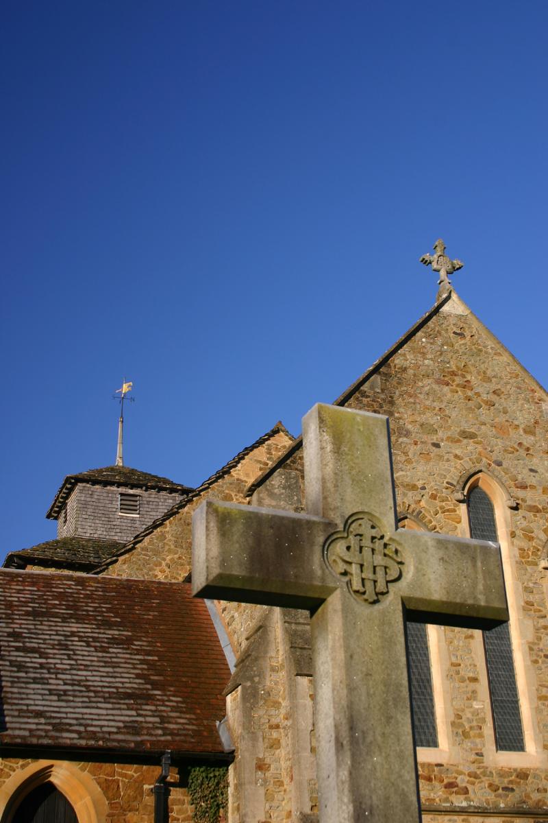Wotton Church - Three Crosses