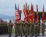 Change of Command ceremony, Camp Hansen